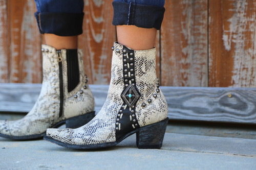 Double D by Old Gringo Four Winds White Boots DDL045-2 Detail