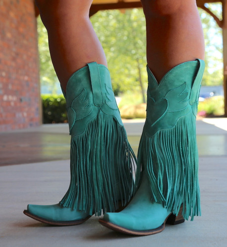 Junk Gypsy by Lane Dreamer Turquoise Boots JG0004D Photo