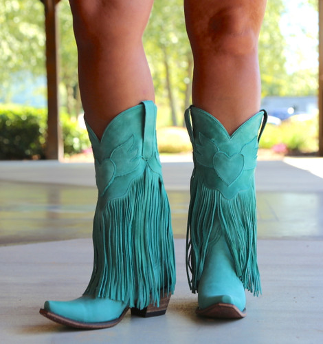 Junk Gypsy by Lane Dreamer Turquoise Boots JG0004D Picture