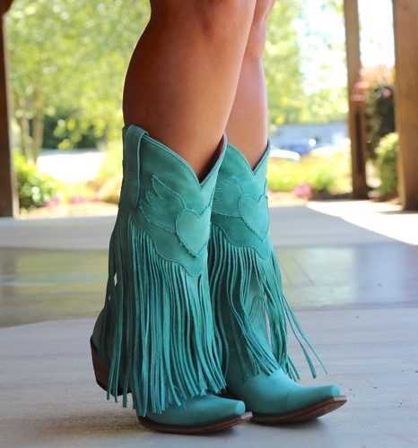 Junk Gypsy by Lane Dreamer Turquoise Boots JG0004D Toe