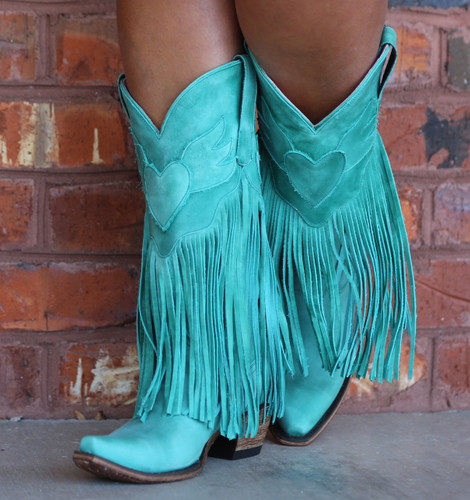 Junk Gypsy by Lane Dreamer Turquoise Boots JG0004D Heart