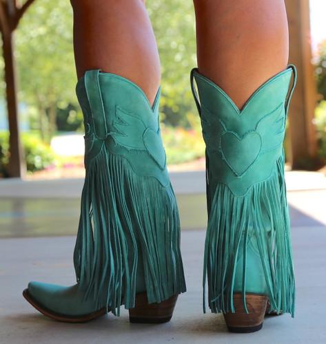 Junk Gypsy by Lane Dreamer Turquoise Boots JG0004D Heel