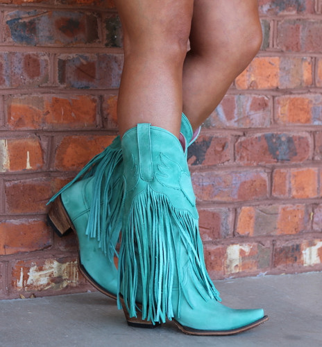 Junk Gypsy by Lane Dreamer Turquoise Boots JG0004D Side