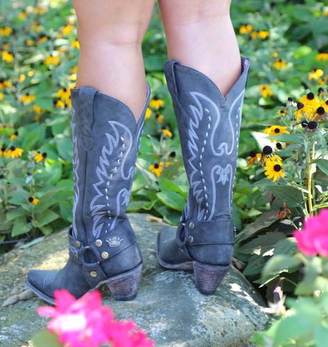 Junk Gypsy by Lane Vagabond Black Boots JG0030B Heel