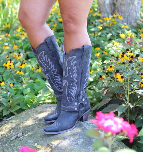 Junk Gypsy by Lane Vagabond Black Boots JG0030B Picture