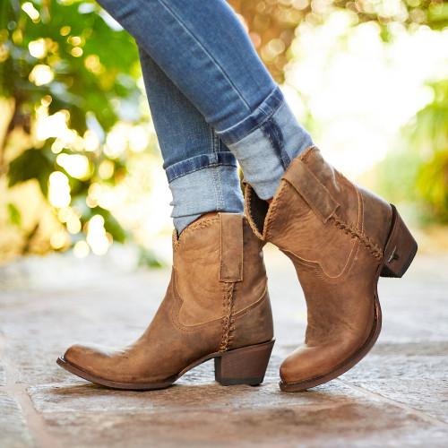 Lane Plain Jane Shortie Brown Boots LB0359A Picture