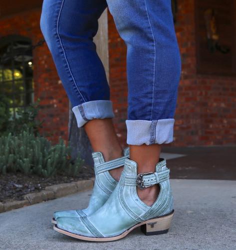 Lane Cahoots Turquoise Boots LB0393D Buckle