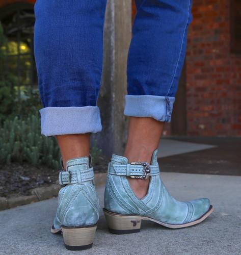 Lane Cahoots Turquoise Boots LB0393D Heel