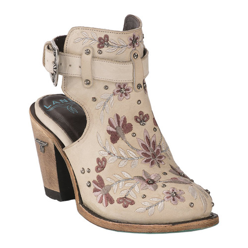 Lane Floral Halfsie Bootie Bone LB0413B Photo