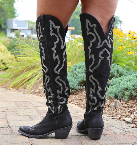 Liberty Black Allyssa Negro Tall Boots LB712989 Heel