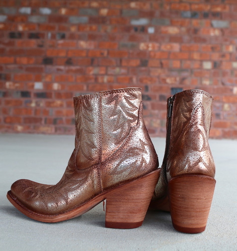 Liberty Black Katherine Fetuccini Oro Boots LB712313 Heel