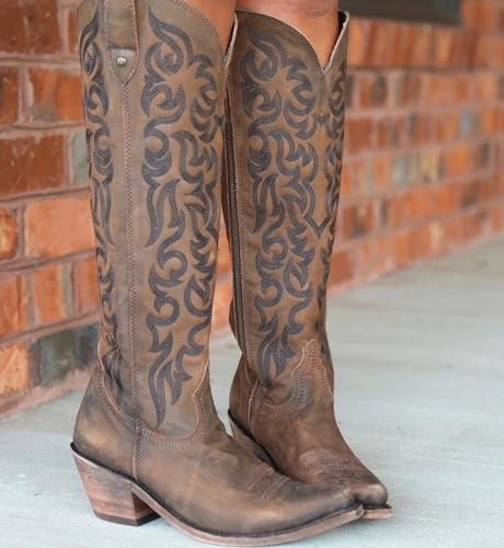 Liberty Black Allie Vegas T Moro Stonewash Boots LB712988 Toe