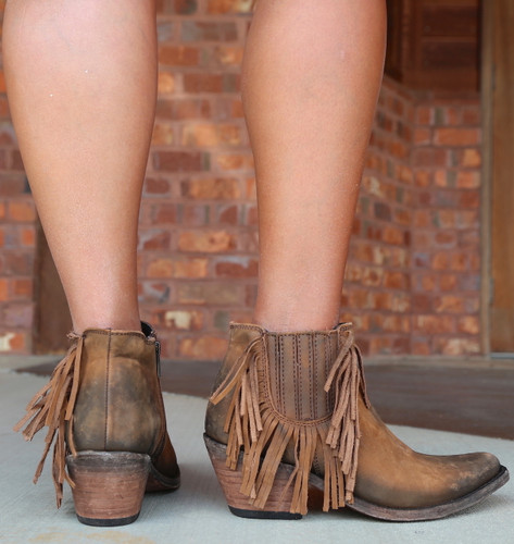 Liberty Black Faggio Side Fringe Boots LB712948 Heel