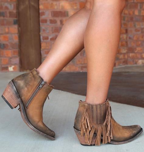 Liberty Black Faggio Side Fringe Boots LB712948 Photo