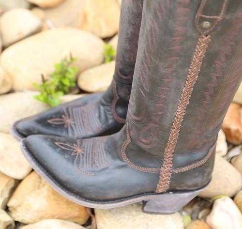 Liberty Black Judith Boots Mossil Negro LB713100 Toe