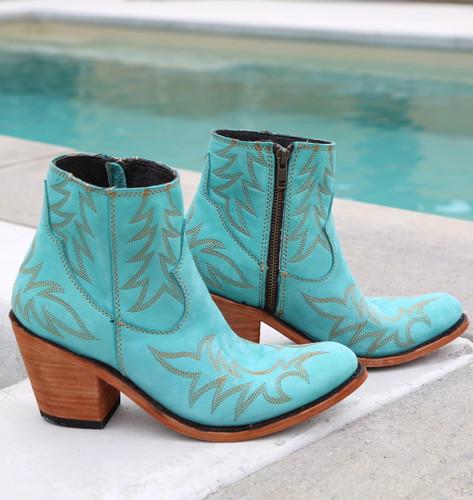 Liberty Black Katherine Boots Nobuck Grease Turqueza LB712313 Image