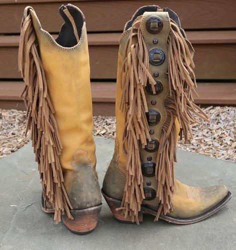 Liberty Black Ophelia Boots Hueso Claro LB712953 Heel