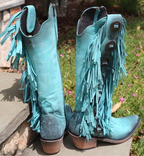 Liberty Black Ophelia Boots Nubuck Grease Turqueza LB712953 Heel