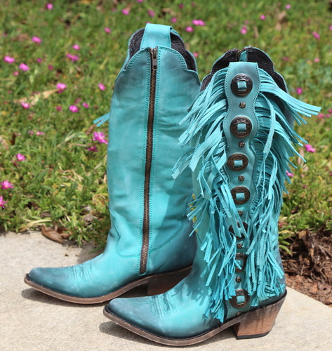 Liberty Black Ophelia Boots Nubuck Grease Turqueza LB712953 Picture