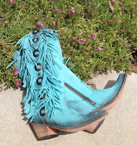 Liberty Black Ophelia Boots Nubuck Grease Turqueza LB712953 Image