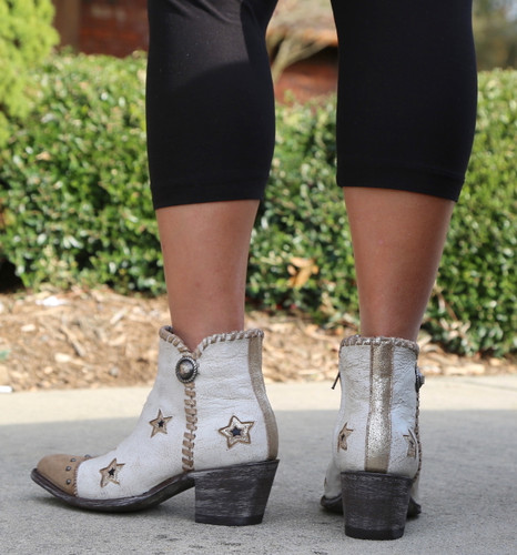 Yippee by Old Gringo Glamis Crackled Taupe YBL357-1 Heel