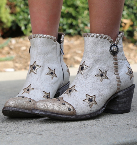 Yippee by Old Gringo Glamis Crackled Taupe YBL357-1 Stars
