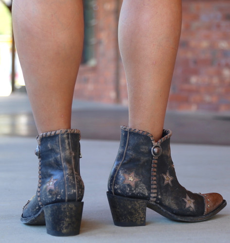 Yippee by Old Gringo Glamis Rustic Beige Black Boots YBL357-2 Heel