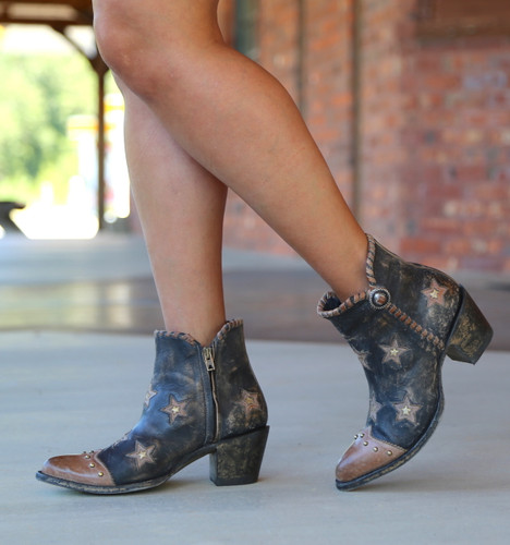 Yippee by Old Gringo Glamis Rustic Beige Black Boots YBL357-2 Walk