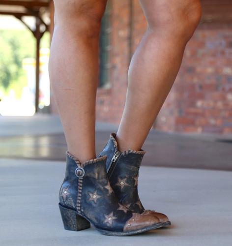 Yippee by Old Gringo Glamis Rustic Beige Black Boots YBL357-2 Image