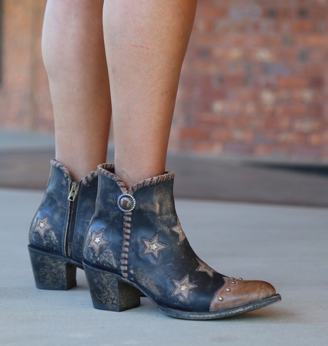 Yippee by Old Gringo Glamis Rustic Beige Black Boots YBL357-2 Picture