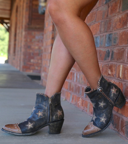 Yippee by Old Gringo Glamis Rustic Beige Black Boots YBL357-2 Photo