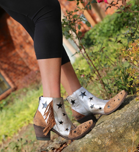 Yippee by Old Gringo Judith Silver Ocre YBL359-1 Boots