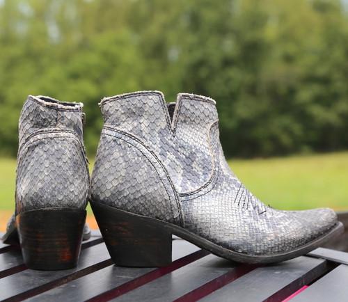 Liberty Black Prya Python Gris Boots LB711246 Heel