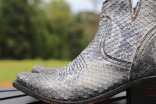 Liberty Black Prya Python Gris Boots LB711246 Toe