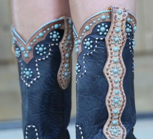 Old Gringo Cheryl Black Boots L3195-1 Studs