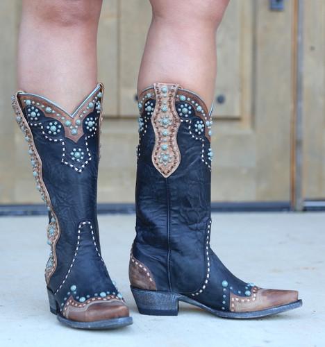 Old Gringo Cheryl Black Boots L3195-1 Front
