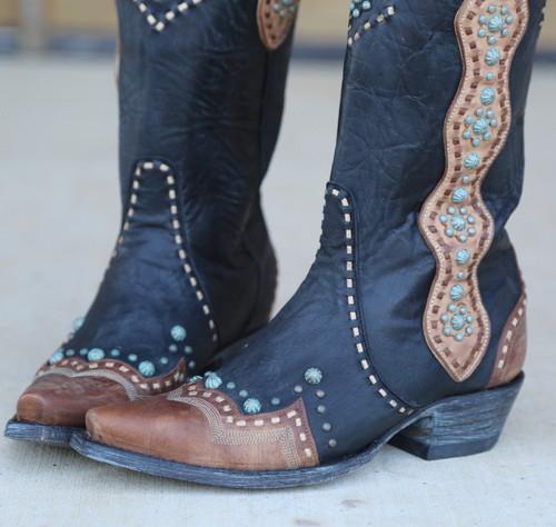 Old Gringo Cheryl Black Boots L3195-1 Toe