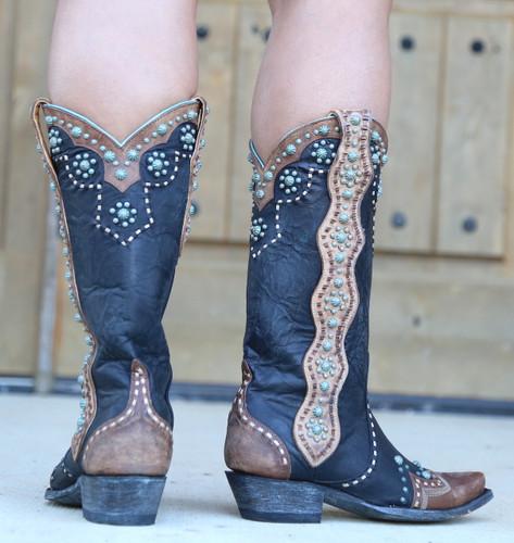Old Gringo Cheryl Black Boots L3195-1 Heel