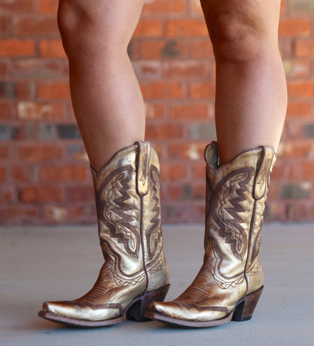 Yippee by Old Gringo Peyton Gold Boots YL347-2 Photo
