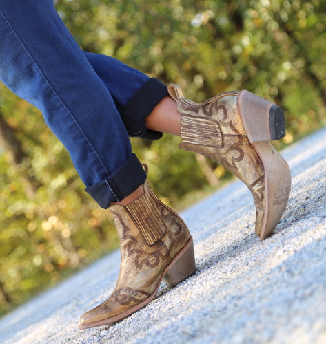 Yippee by Old Gringo Shay Bootie Gold YBL350-2 Walk