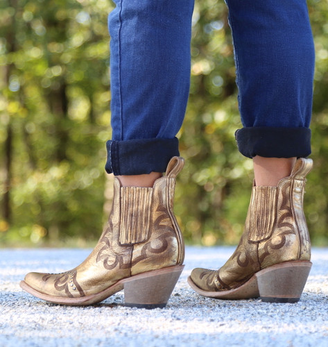 Yippee by Old Gringo Shay Bootie Gold YBL350-2 Heel