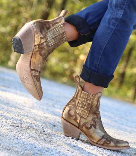 Yippee by Old Gringo Shay Bootie Gold YBL350-2 Picture