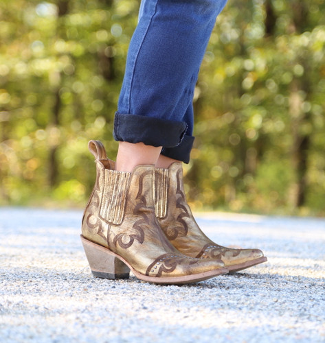 Yippee by Old Gringo Shay Bootie Gold YBL350-2 Side