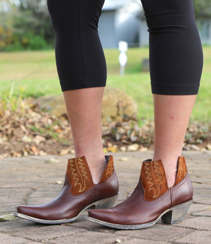 Yippee by Old Gringo Myrna Chocolate Cognac Booties YBL373-3 Photo