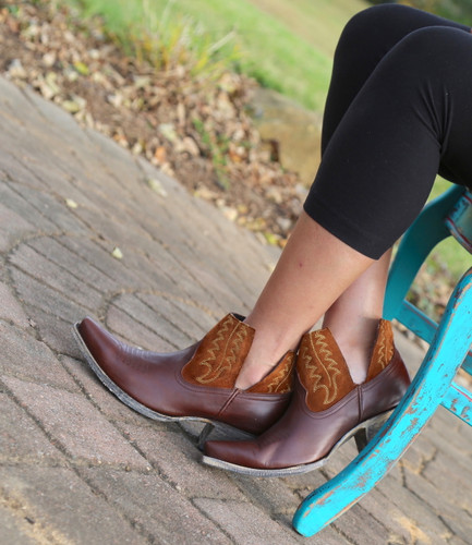 Yippee by Old Gringo Myrna Chocolate Cognac Booties YBL373-3 Picture