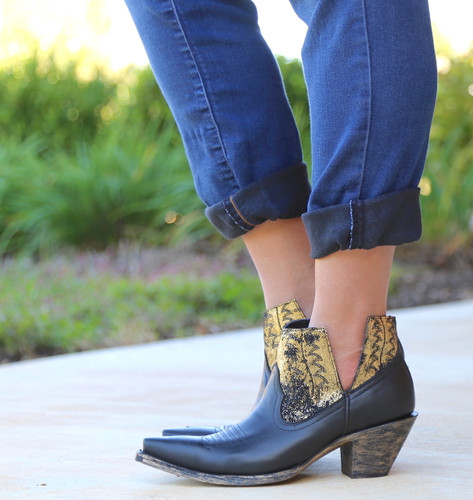 Yippee by Old Gringo Myrna Black Gold Booties YBL373-2 Photo