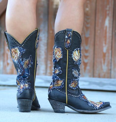 Old Gringo Carla Black Boots L3183-1 Back