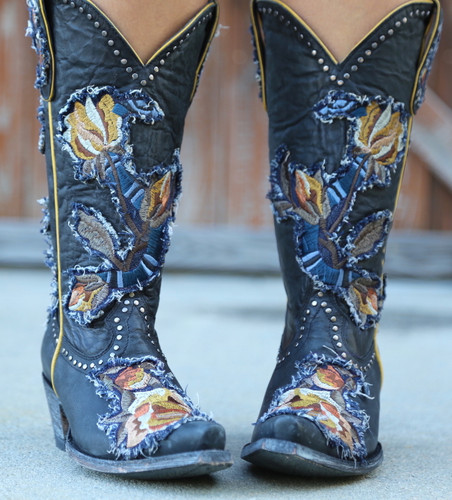 Old Gringo Carla Black Boots L3183-1 Embroidery