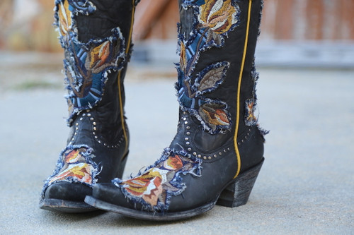 Old Gringo Carla Black Boots L3183-1 Toe