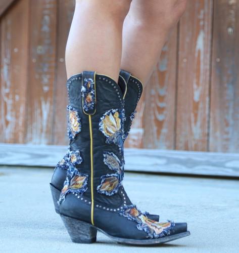 Old Gringo Carla Black Boots L3183-1 Side